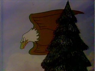 papa finds another tree to go gaga over and gets into position once again and guess what the same thing happens only with an eagle this time - Bear Christmas Tree